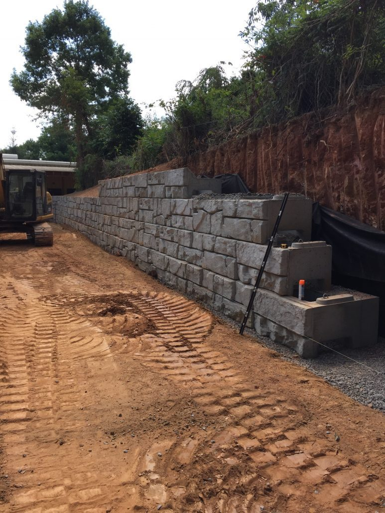 Retaining walls verti block carolina ready mix for Lumber calculator for walls