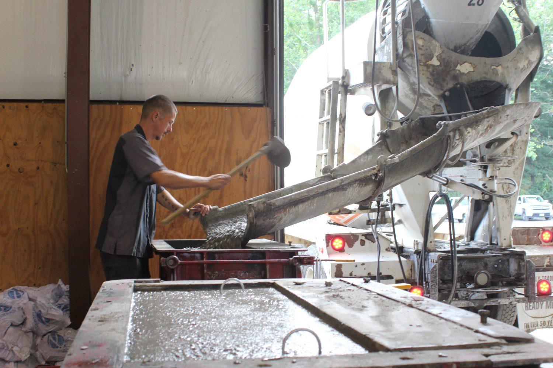 mixing concrete 2